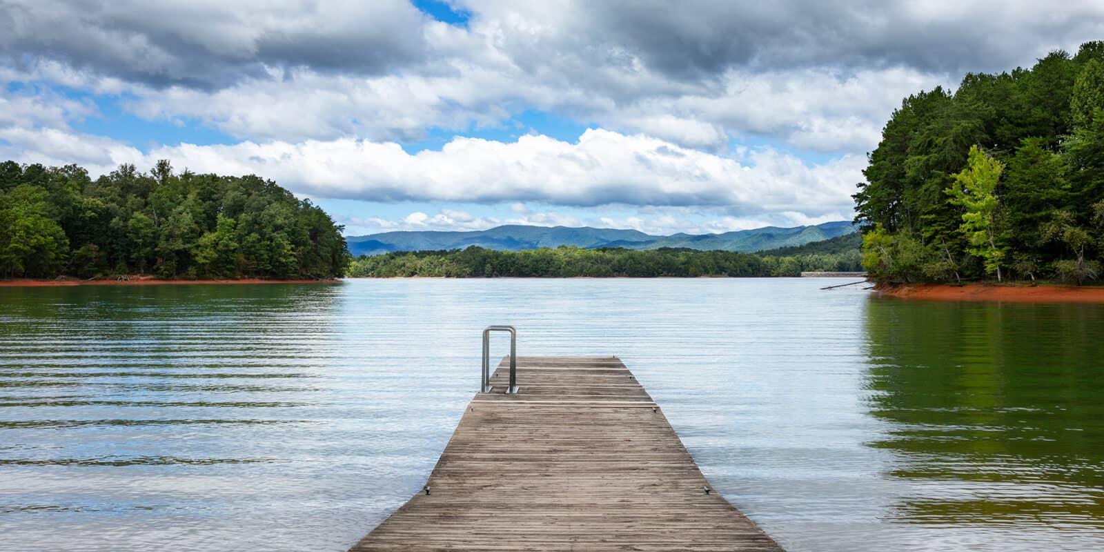 Hiwassee Lake in North Carolina