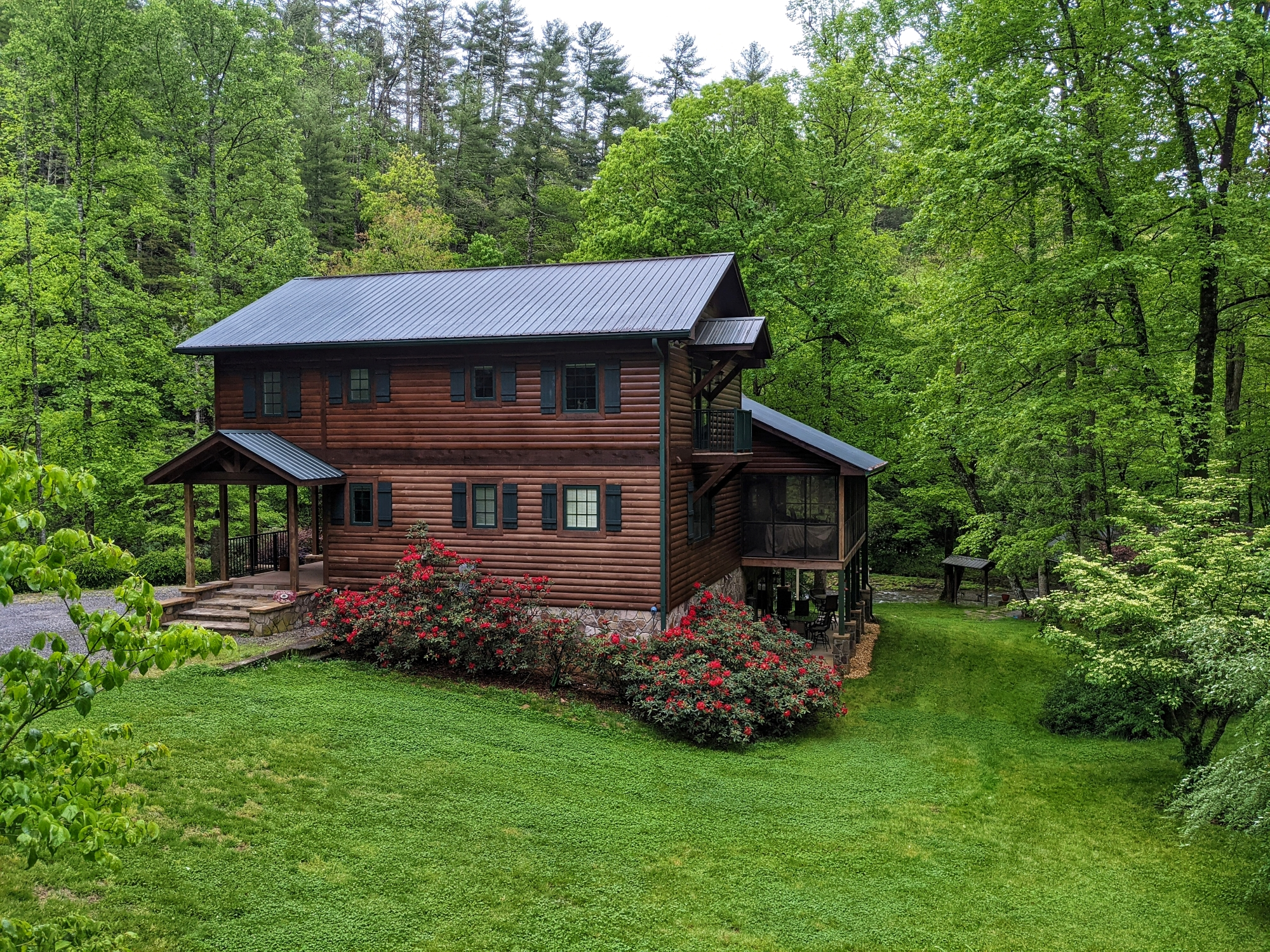 Home with trees surrounding it in North Carolina